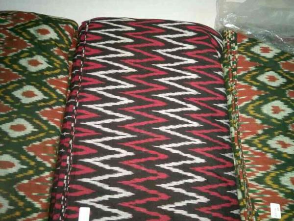 ikkat Handloom fabric,  we are manufacturers of  superier fabric for dress, lampshades, c/covers etc - by Dhruv Raj International, Noida