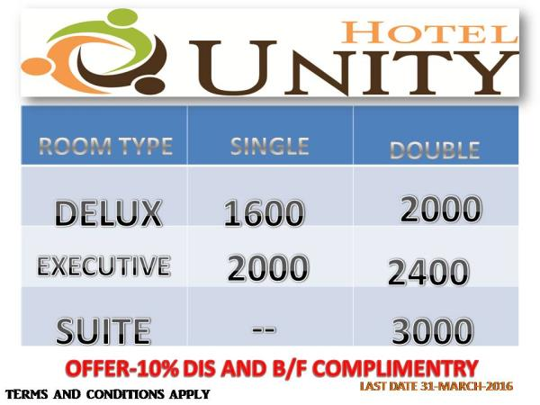 offer....offer.....offer - by Hotel Unity, Ahmedabad