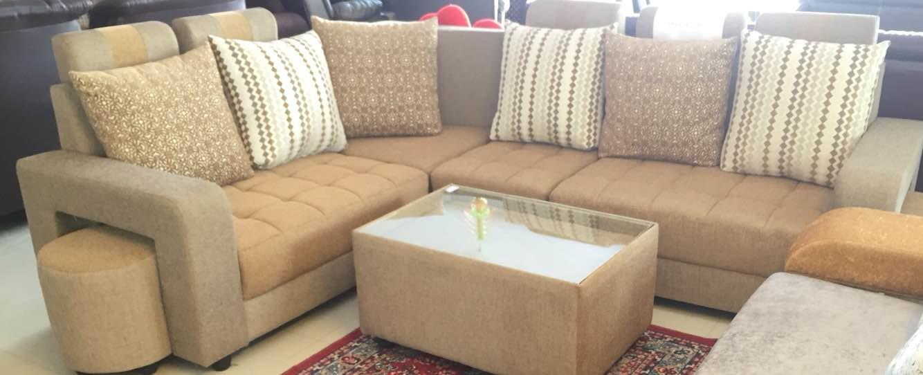 THE ALL TIME LONDON SOFA (2+2+1+Corner+center+2puffs) Washable cushions  @store #jugnufurnitures  FOR MORE DETAILS  CONTACT : 8143077770 T& C APPLY. - by JUGNU FURNITURE, Hyderabad