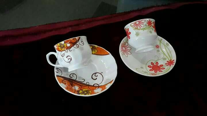 cup saucer in new designs nd shapes in china art ware - by RK Decorators, Khurja