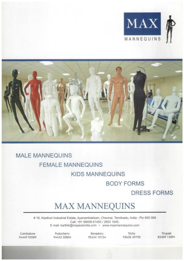 Mannequins Manufacturers in Chennai.                          we are the best manufacturers of mannequins in Chennai. We are Manufacturing all Types of Mannequins. - by Max Mannequins, Chennai