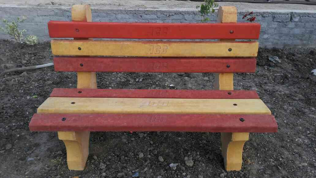 """precast concrete """"garden bench Moulds"""" now available in high glossy finishing, precast garden bench Moulds  made with high quality fiberglass - by interlocking paver block making machine, Delhi"""
