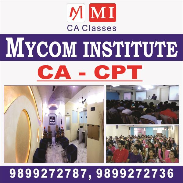 mycom institutes are best ca cpt institutes in laxmi nagar, we are provided best ca cpt institutes in laxmi nagar, east delhi. we are provided best solutions for how to crack cpt exam. - by mycom institute, laxmi nagar