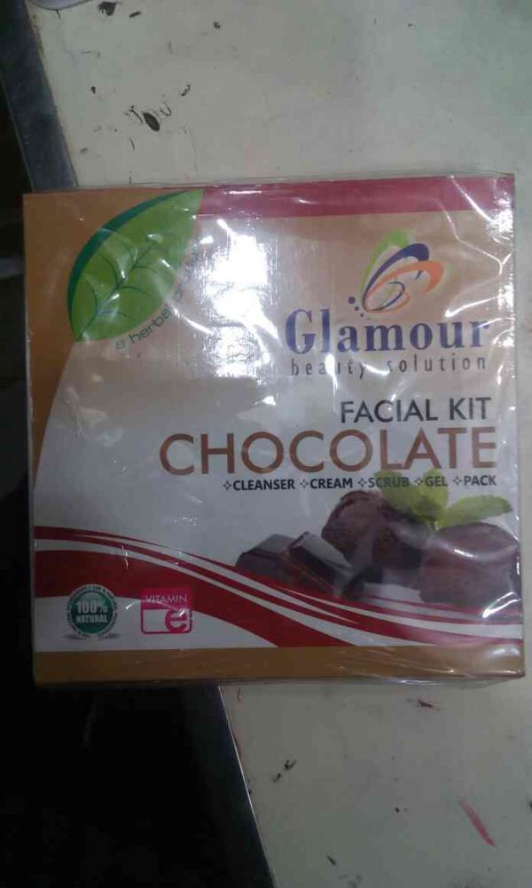 glamour beuty solution chockolate facial kit mrp:-110/-rs offer price:-70/-rs - by Heena Cosmetics, Vadodara