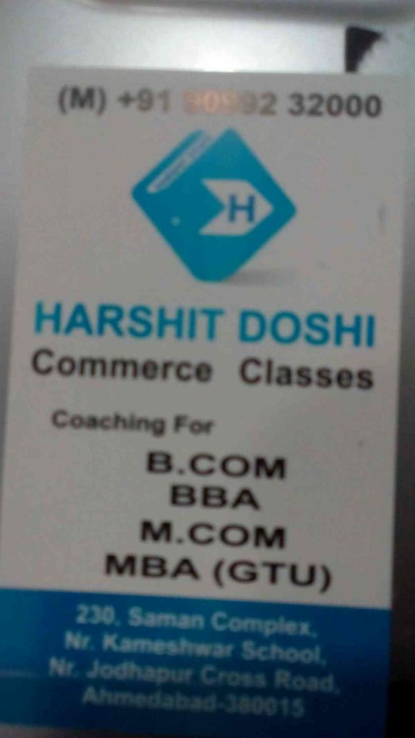 best classes in ahmedabad - by Harshit Doshi, Ahmedabad
