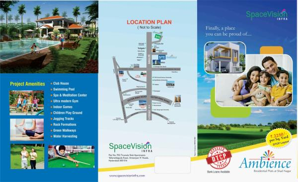 rs 50000 for booking the plot ambience balance pay in emi - by Space Vision Group, Hyderabad