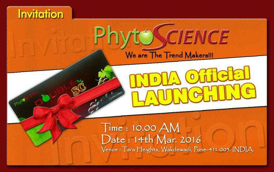 know phytoscience is launching in India. be ready to fly.................  - by PhytoScienceIndia.Info, delhi