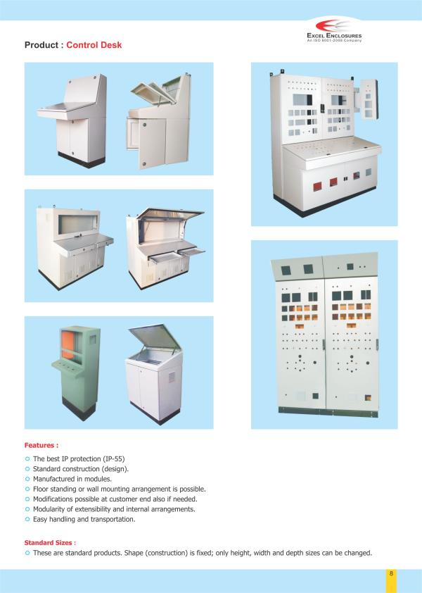 Various Type of Control Desk manufacturer in Pune. - by Excel Enclosures, Pune