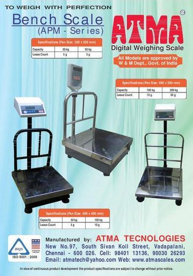 Bench Scale - by ATMA Technologies, Chennai