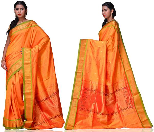 Price: - 16500 /-   Paithani Sarees, Paithani Sarees online shopping, Paithani Silk Saree With Matching Blouse Piece, Paithani Sarees Price. Sign up now for E-book you will be updated with latest collection of ethnic verities. For More Info Click on :- www.uppada.com  We manufacture of Uppada sarees, Paithani sarees, Banarasi sarees, Venkatagiri Sarees, Gadwal Sarees, Khadi sarees, Hand Painted Kalamkari Dupatta, Ikkat sarees, Kanchipuram Sarees, Dupattas, Stoles etc. For more info us at 040 64640303, 441905005.  Buy online: - uppada.com  - by Paithani, Hyderabad