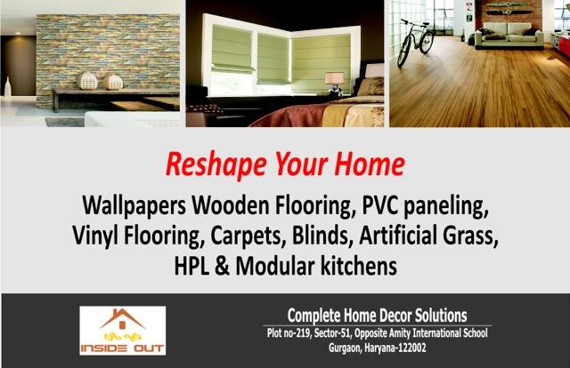 looking forward to moving to  your new house/office or renovating existing place ?Bring colors and life to your place  by adding beautiful wallpapers/ /pvc panels  and wooden flooring. choose from thousand of retro or contemporary : flower - by Inside Out 9555345366, Gurgaon