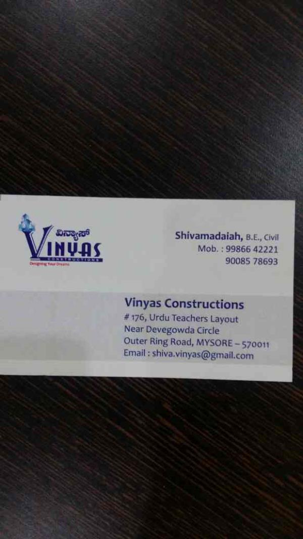 Best Developers in Mysore  with 360degree seevices in Real estate  - by Vinyas Builders And Developers , Mysore