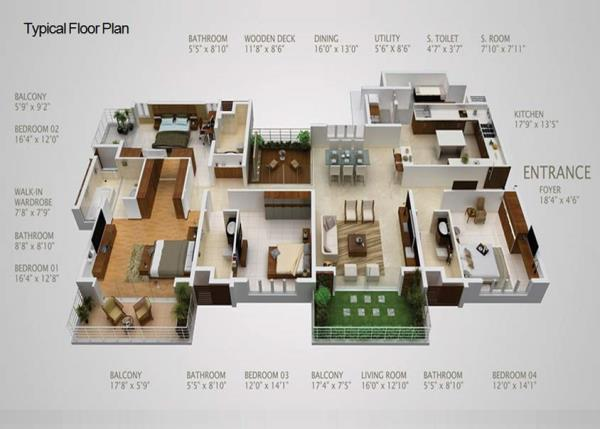 Typical-Floor-Plan - by CV Architects, Bangalore