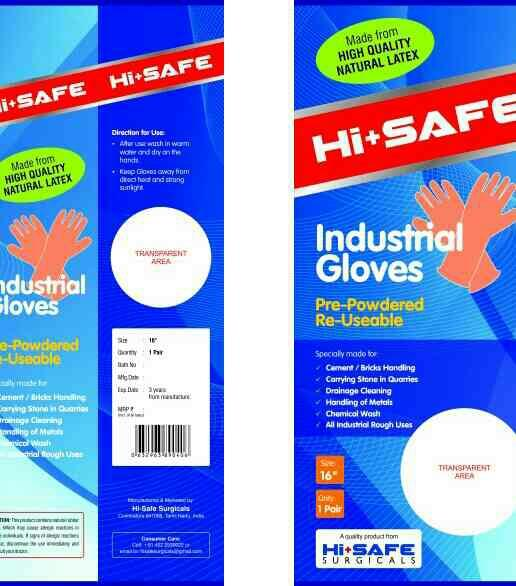 industrial rubber glove  - by Hi Safe Surgicals, Coimbatore