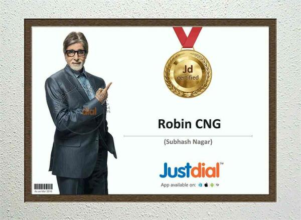 Robin cng has got certificate of gold medal from just Dail for serving good quality and best service to their customers  best cng fitting centre in the delhi at reasonable prices  - by Robin Eco Motors, New Delhi