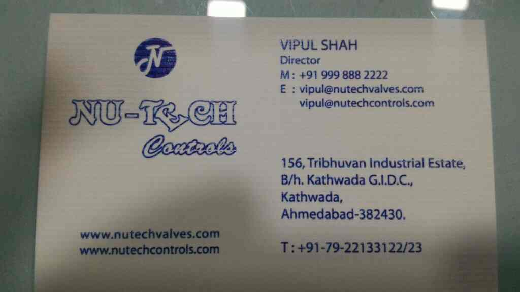 Plz contact for automation valve technology - by Nu-tech Valves, Ahmedabad