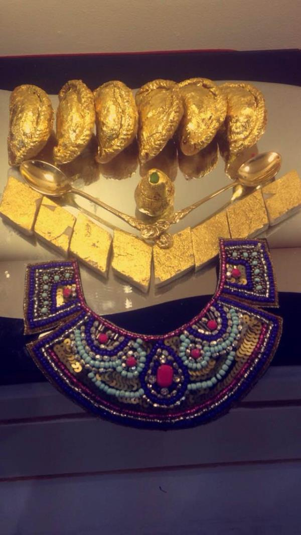 Today is the last day of #aahar and your last chance to stop by our stall! Come and learn all about the different uses of 24k edible gold leaves.   - by Shree Jagannathji Sterling Products, New Delhi