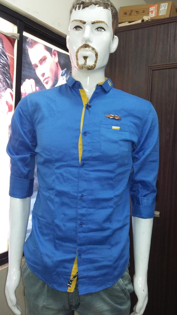 style; plain shirt made in india size m .l .xl .xxl  - by Veera Menswear & Childrenswear, Alta