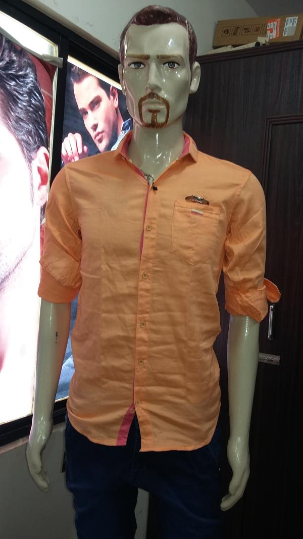 style; plain shirt made in india size m  l  xl  xxl  - by Veera Menswear & Childrenswear, Alta