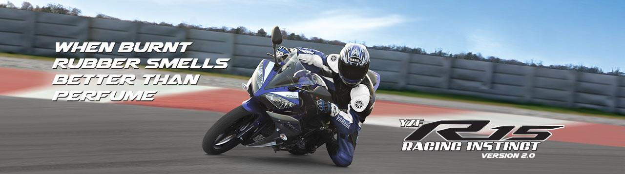 "YZF R15 - Racing Instinct Racing Instinct. - Passing on the ""R series"" DNA  The YZF-R15 version 2.0 is a 150cc liquid-cooled 4-stroke fuel injected bike. The R15 version 2.0 has undergone changes as compared to the present YZF-R15 in the sp - by Monteiro Marketing, mysore"