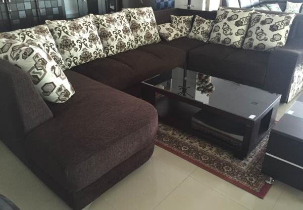 THE U SHAPE SOFA (3+2+C+LUNCHER) @store #JUGNUFURNITURES   FOR MORE DETAILS  CONTACT : 8179739425 T& C Apply. - by JUGNU FURNITURE, Hyderabad
