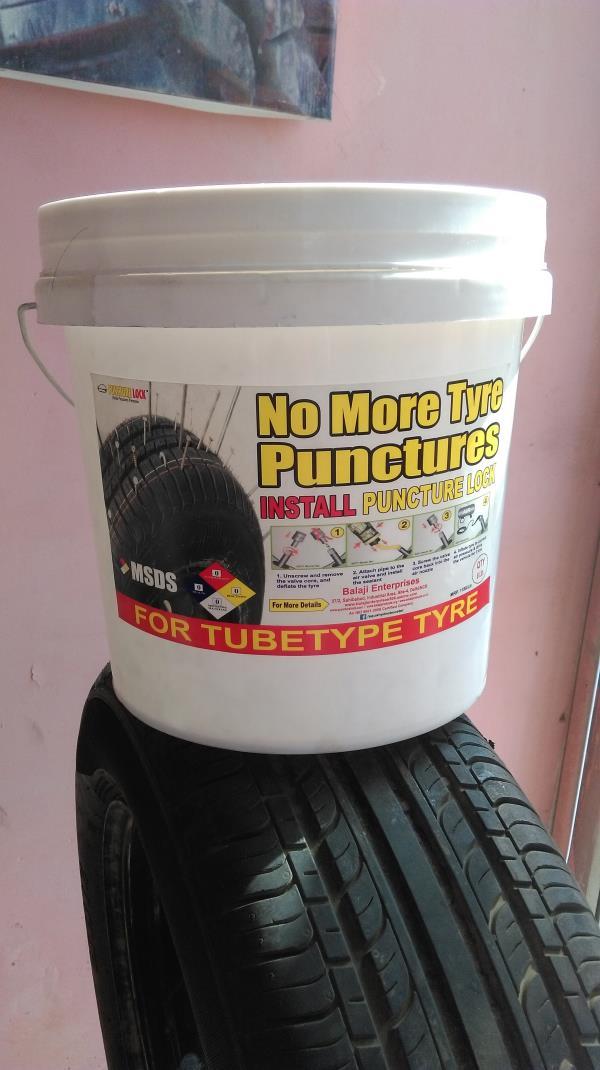 Puncture Lock Tubetype tyre 8 liter packing - by Balaji Enterprises, Ghaziabad