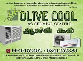 OLIVE COOL AIR CONDITIONER SERVICE CENTRE:  OLIVE COOL is the fastest growing company that offers one point solutions which render the finest finish for every creation, whether commercial or residential. Our company undertakes installation  - by Olive Cool, Chennai