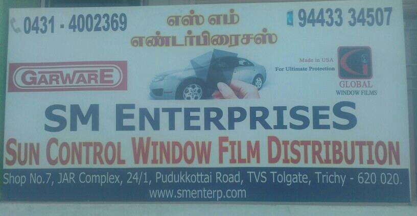 Garware Sun control Film Distributor in Trichy  SM Enterprises for Buildings & Automotives   - by SM Enterprises, Trichy