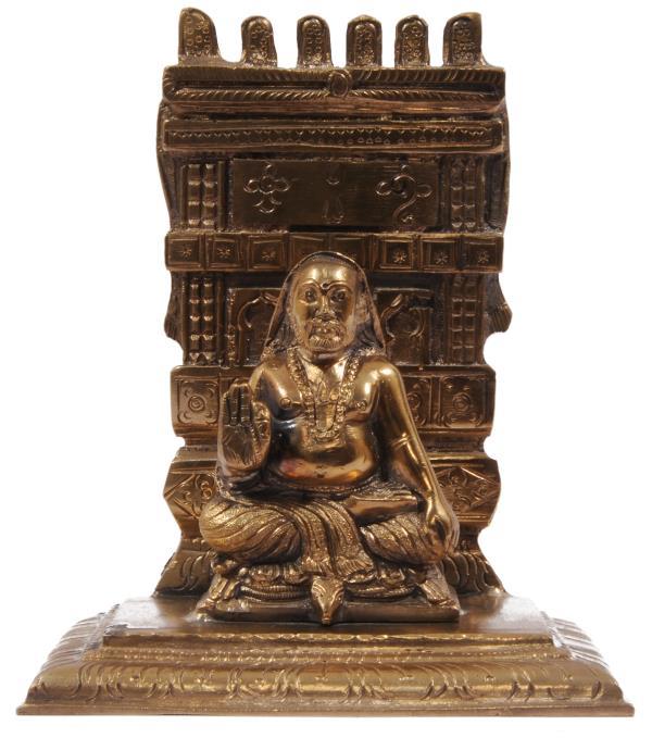 Panchaloha made raghavendra Swamy idol   2000 Rs - by PRASIDDH ENTERPRISES, Bangalore