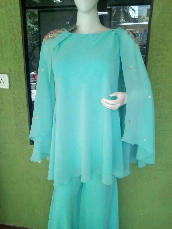 make you most beautiful by this sky blue ware its most beautiful  designer ware  designer sarees designer ware ladies designer ware all at one place by prashanti kumar @rouge - by Rouge by Prashanti Kumar, Hyderabad