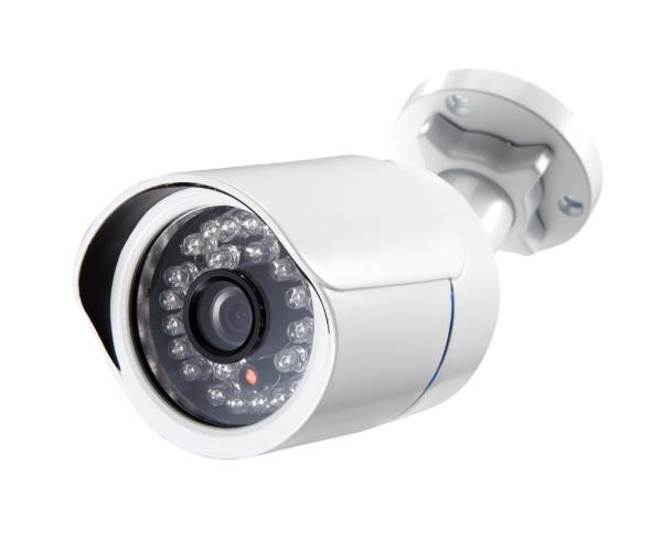BULLET CAMERA:  Bullet cameras are a variation of the box camera built into a permanently sealed weatherproof enclosure.  They can be used indoors or outdoors without the need for additional hardware (a wall mount is included). Bullet camer - by Zcat Technology Management, Kozhikode
