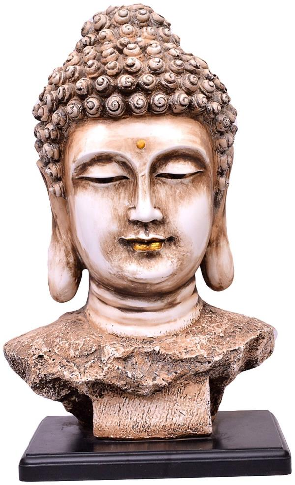 Marble dust Buddha statue. - by Ramraj, Jodhpur