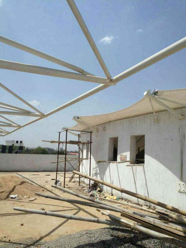 just we completed inverted conical structures at ranchi - by Tensile Structure, Gurgaon