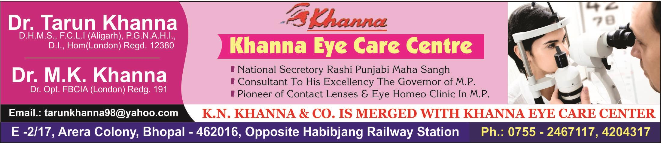 We at khanna Eye clinic typically do the following: Perform vision tests and analyze results Diagnose sight problems, such as nearsightedness or farsightedness and eye diseases, such as glaucoma Prescribe eyeglasses, contact lenses, and med - by Khanna Eye care center, Bhopal