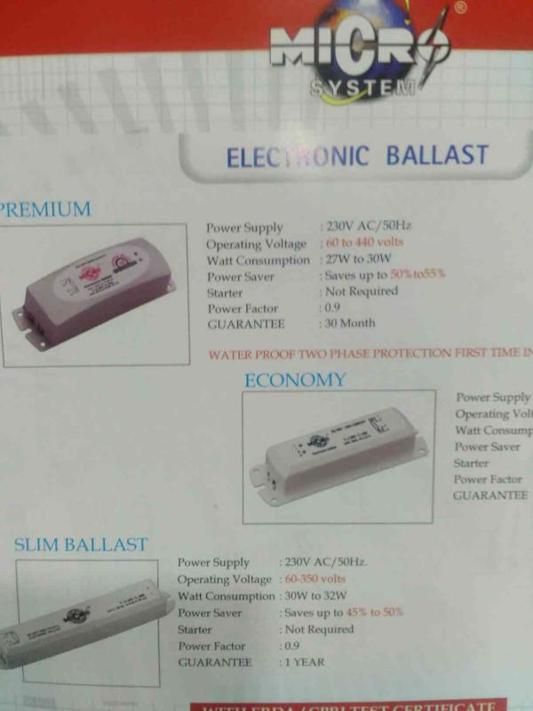 Electronics Ballast Manufacturers in Rajkot - by Micro System, Rajkot