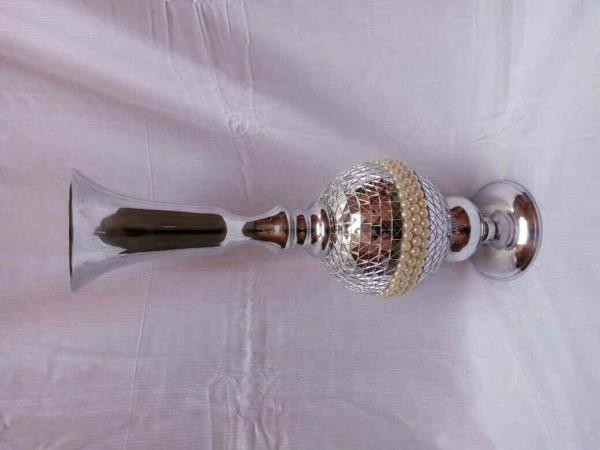 New launch. Classic and beautiful chrome made to place in your drawing room.  19inch long.  Price - Rs. 2750  - by Antiqueandvintage, new delhi