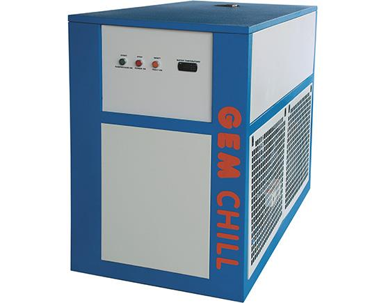 Manufacturers of Industrial Refrigeration Chillers.  The industrial chillers we offer are built in closed stainless steel tanks. The rigid steel frame construction has a power coating finish and hence is weather resistant. It is designed to - by Gem Equipments Pvt Ltd, Bangalore