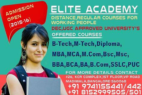 B.Tech Correspondence Courses in Bangalore - by Elite Academy, Bengaluru