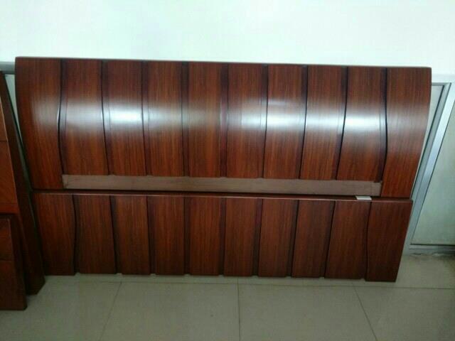 wooden double bed glossy mamine polish mansarovar Jaipur  - by Shagun Decor, Jaipur