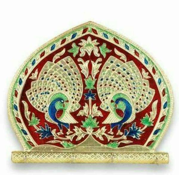 Handicraft Item  Meenakari Utensil in Rajkot , Gujarat , India - by BH WOOD GALLARY, Rajkot