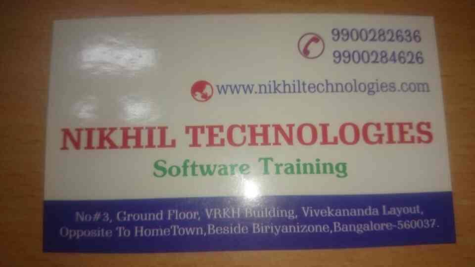 j2ee training center in Bangalore  - by Nikhil Technologies, Bengaluru