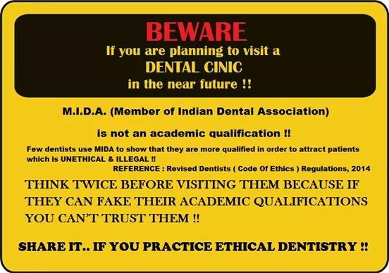 Why compromise on ETHICS!!!! Be proud of what you are! - by RUMANA DENTAL CLINIC, Jamshedpur