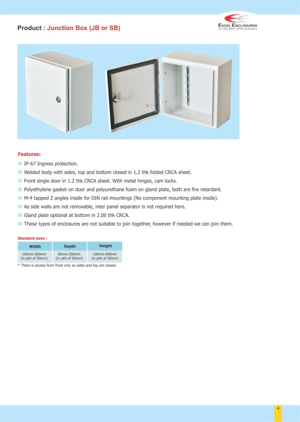 Junction Box Manufacturer in Pune. - by Excel Enclosures, Pune