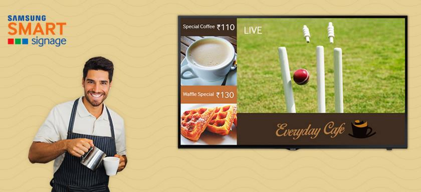 Samsung Digital Signage TV, Engage your customers better with easy to manage SMART SIGNAGE.  Play customised content and get crystal clear picture quality with Samsung SMART Signage  If you looking for Digital SIgnage, Display Boards, Proje - by Avitronics Projections Pvt Ltd Call 040-39594553, secunderabad