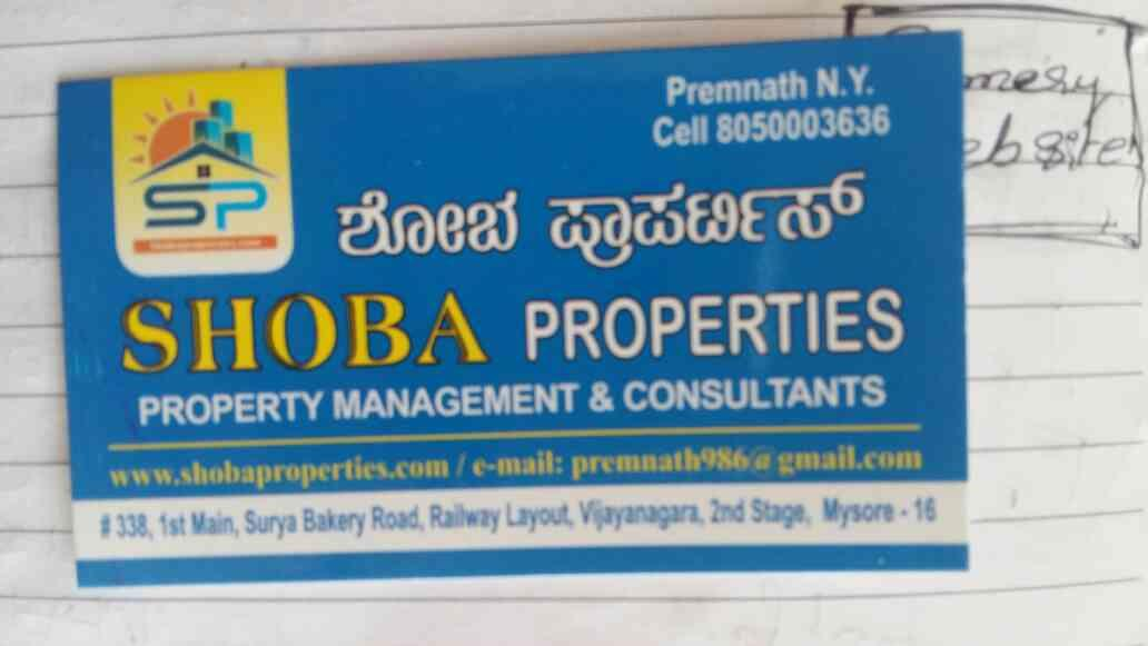 Best Real estate Solution in Mysore - by SHOBA Properties, MYSORE