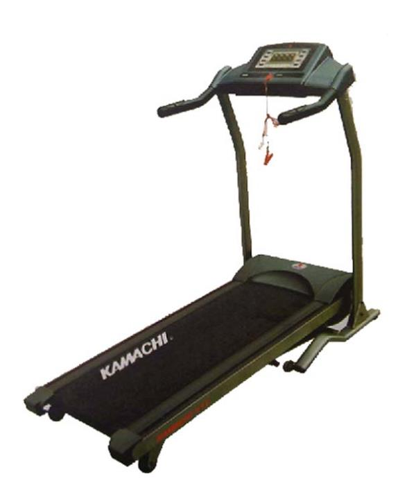 """Kamachi Motorised Treadmill 333 has a 2.75 Horse Power continuous motor with a 4 HP peak power and has LCD screen with soft drop and locking bar. It has 6 pre-set program options and 6 levels. It has a running area of 17"""" X 50"""". It has a ma - by www.1800sports.in, Bangalore Urban"""