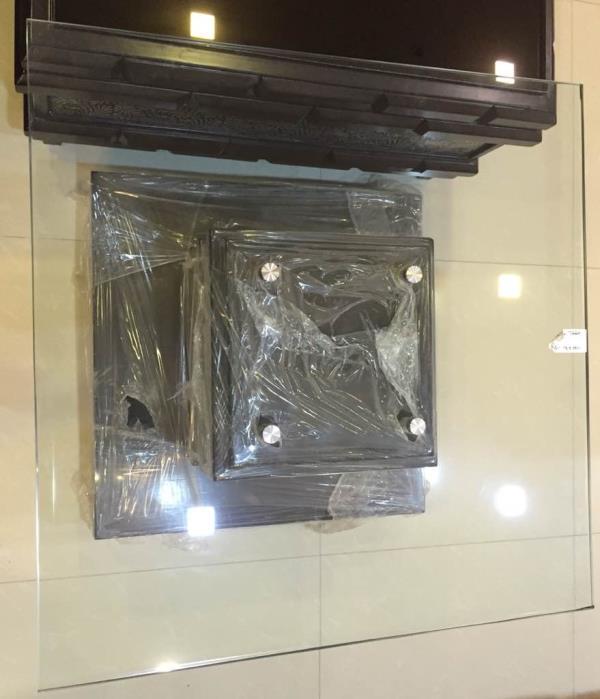 Top glass base wood Center table.   #jugnufurnitures  For more details Contact : 8143077770 - by JUGNU FURNITURE, Hyderabad