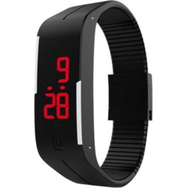 Varni Retail Led Rubber Magnet Black Colour Digital Watch - For Boys, Men, Girls, Women   FUNCTIONS Chronograph	No Date Display	Yes, Date Display Altimeter	No Barometer	No Other Functions	It Can Be Used As Wrist Band Alarm Clock	NO Compass	 - by Subh Laxmi Playstation Zone, Delhi
