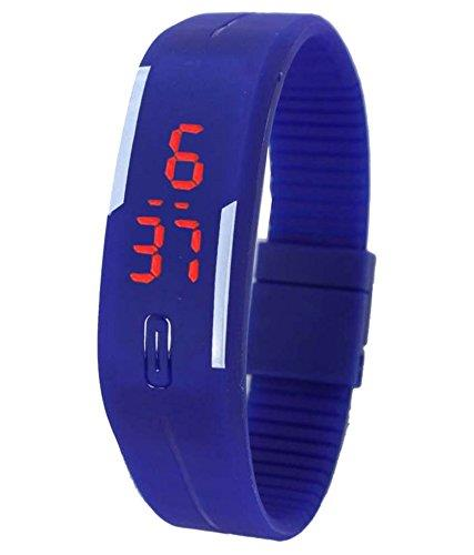 Varni Retail Led Rubber Magnet Black Colour Digital Watch  - by Subh Laxmi Playstation Zone, Delhi