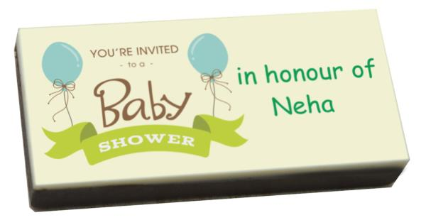 Baby showers are happy occasions when you share the joy of parenthood with your loved ones. Baby shower invitations can be unique and innovative in the form of printed chocolates. Send this unique baby shower gifts to your loved ones that w - by Customized Chocolates | ChocoCraft Delhi, Delhi